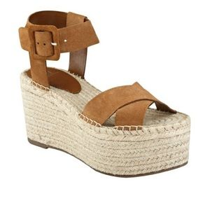 Marc Fisher Randall Platform Brown Espadrilles Sandals